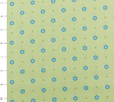 Candy Bloom Green and Blue Dot by Ella Blue