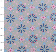 Nellie Hill Pink and Blue Floral by Ella Blue