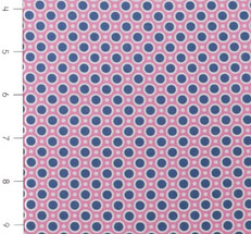 Nellie Hill Blue Dots on Pink by Ella Blue