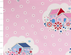 Nellie Hill Cottages on Pink by Ella Blue