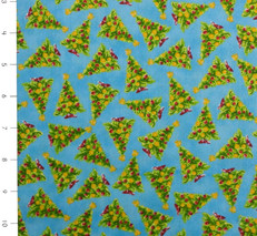More Elf on the Shelf Trees Blue by Quilting Treasures