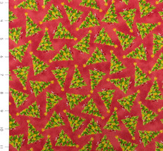 More Elf on the Shelf Trees Red by Quilting Treasures