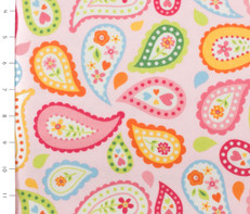Paisley Pink Flannel by Riley Blake
