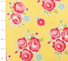 Sidewalks Floral Yellow Flannel by Riley Blake