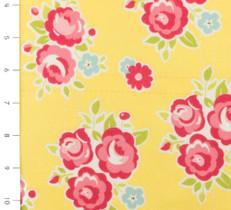 Sidewalks Floral Yellow Flannel by Riley Blake