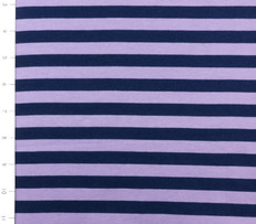 Knit Half Inch Stripe Navy and Purple by Riley Blake