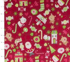 Holidays Main Red Flannel by Riley Blake
