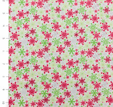 Holidays Snowflake Multi Flannel by Riley Blake