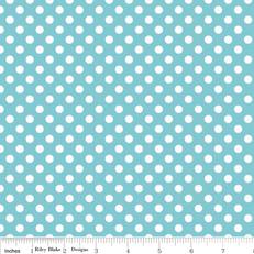 Knit Small Dots Aqua by Riley Blake