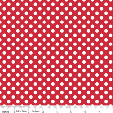 Knit Small Dots Red by Riley Blake