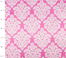Damask Silky Satin Fuschia/Snow
