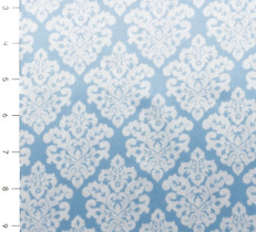 Damask Silky Satin Blue/White