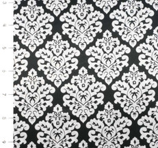 Damask Silky Satin Black/Snow