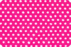Swiss Dot Hot Pink/White Dots