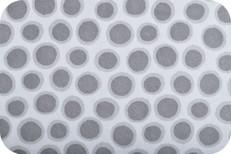 Spot Dot Cuddle Minky Charcoal by Robert Kaufman