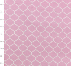 Max & Bunny Quatrefoil Pink by Andover