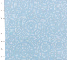 Max & Bunny Dotted Swirls Blue by Andover