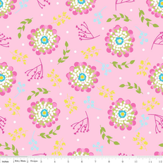 Floriography Foral Pink Laminate by Riley Blake