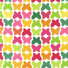 Laguna Cotton Jersey Multicolor Butterflies by Anne Kelle for Robert Kaufman