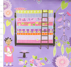 Quiet Time Princess & the Pea Lavender by Michael Miller
