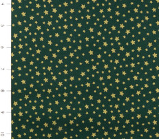 Metallic Christmas Green with Gold Stars