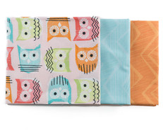Owl & Chevron Fat Quarter Bundle
