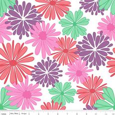Floriography Main Purple by Riley Blake