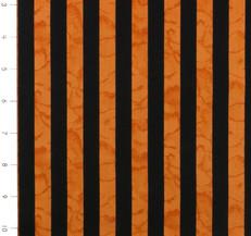Wicked Orange and Black Stripes by Kim Schaefer