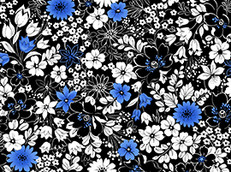 Contempo Floral in Midnight by Quilting Treasures