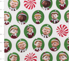 Elf on the Shelf Character Heads and Mints by Quilting Treasures