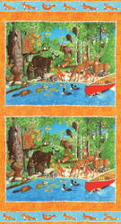 Forest Friends Panel Happy by Moda