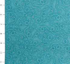 Snuggle Buddies Dotted Swirls Aqua by Quilting Treasures