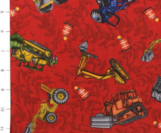 Red Construction Equipment by Clothworks