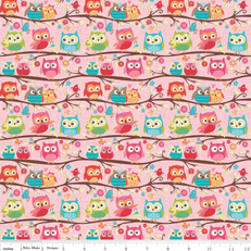 Happy Flappers Owl Pink Knit by Riley Blake