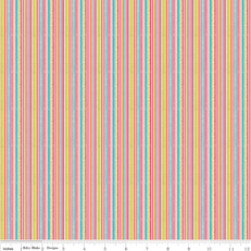 Happy Flappers Stripe Pink by Riley Blake