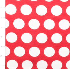 Red and White Polka Dots Knit