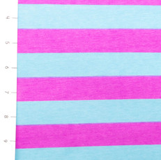 Discontinued Blue Fuchsia Stripe Knit