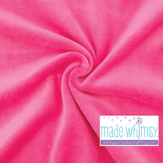 Hot Pink Velour by Made Whimsy