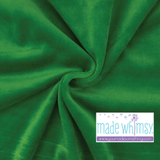 Kelly Green Velour by Made Whimsy