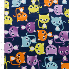 Cool Cords Cats Midnight by Robert Kaufman