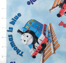 The Color Express Thomas & Friends Blue by Quilting Treasures