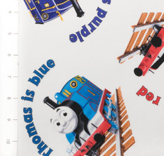 The Color Express Thomas & Friends White by Quilting Treasures