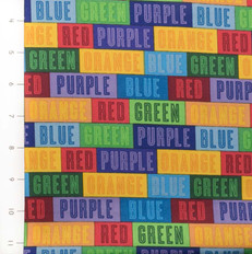 The Color Express Color Names Patch by Quilting Treasures