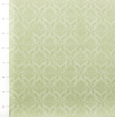 On Top of the World Damask Green by Quilting Treasures