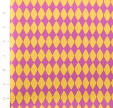 Carousel Diamonds Magenta Yellow by Quilting Treasures