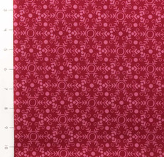 Folk Festival Snowflake Red and Pink by Ella Blue
