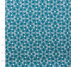 Folk Festival Snowflake Teal by Ella Blue
