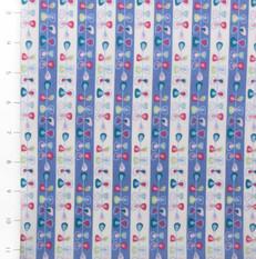 Folk Festival Stripes French Blue by Ella Blue