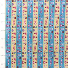 Folk Festival Stripes Yellow and Aqua by Ella Blue