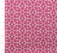 Folk Festival Snowflake Pink by Ella Blue